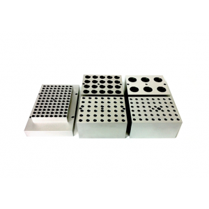 Block, no holes, fits 96-well microplate, Dim (81 x 123 x 19 mm)